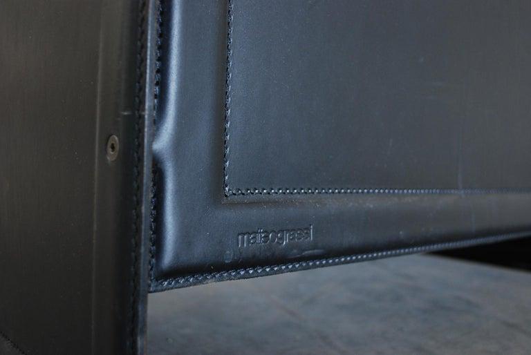 Matteo Grassi Korium Leather Armchair or Chair Korium by Tito Agnoli For Sale 14