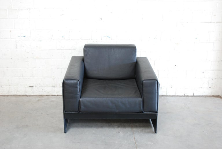 Modern Matteo Grassi Korium Leather Armchair or Chair Korium by Tito Agnoli For Sale