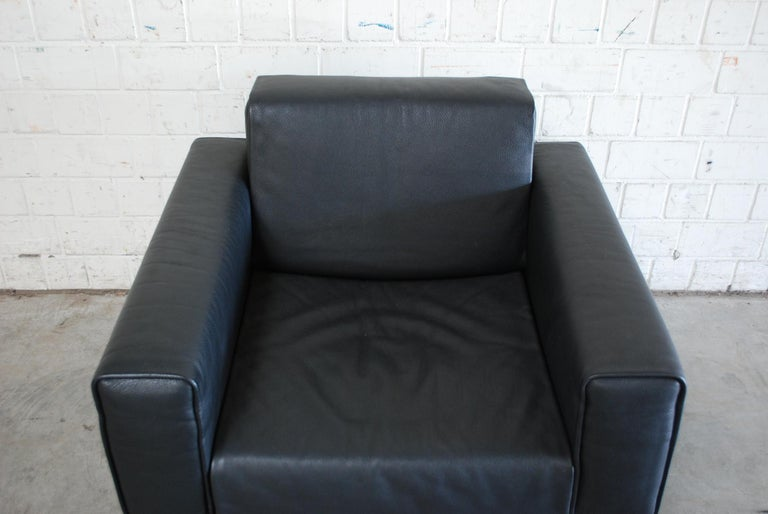 Matteo Grassi Korium Leather Armchair or Chair Korium by Tito Agnoli In Good Condition For Sale In Munich, Bavaria