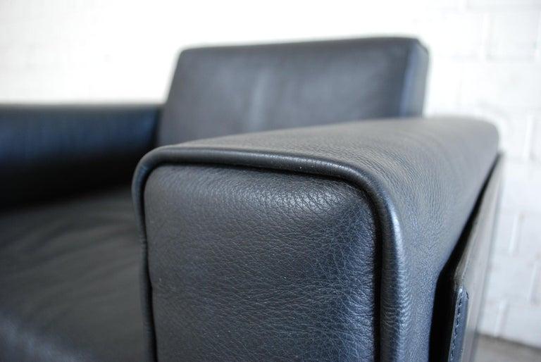 Matteo Grassi Korium Leather Armchair or Chair Korium by Tito Agnoli For Sale 1