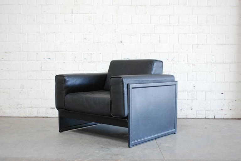 Matteo Grassi Korium Leather Armchair or Chair Korium by Tito Agnoli For Sale 2