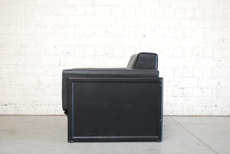 Matteo Grassi Korium Leather Armchair or Chair Korium by Tito Agnoli For Sale 3