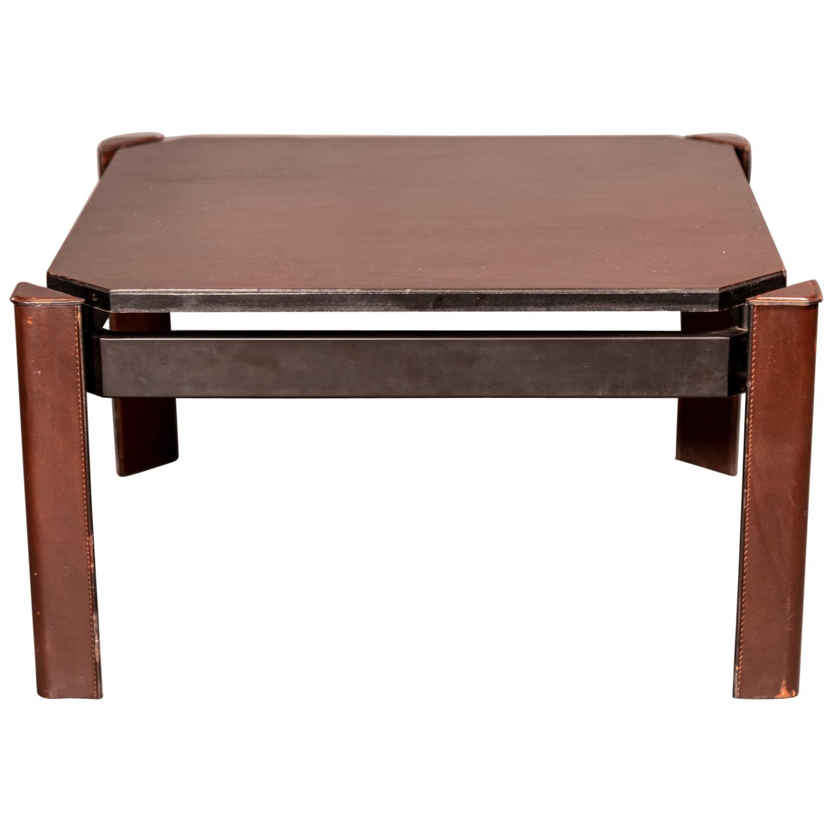 Matteo Grassi Leather Coffee Table