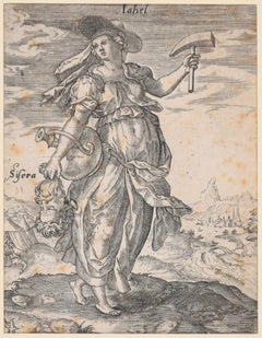 Jale with the Sisera's Head - Original Etching by M. Greuter