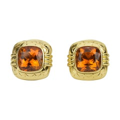 Matthew Cambery 18 Karat Yellow Gold Citrine 10.26 Carat Cufflinks