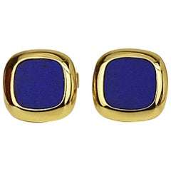 Matthew Cambery 18 Karat Yellow Gold Lapis Lazuli Cufflinks