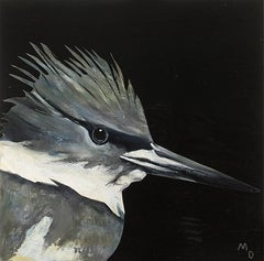 KINGFISHER - oil painting of bird