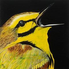 YELLOW WARBLER - oil painting of bird