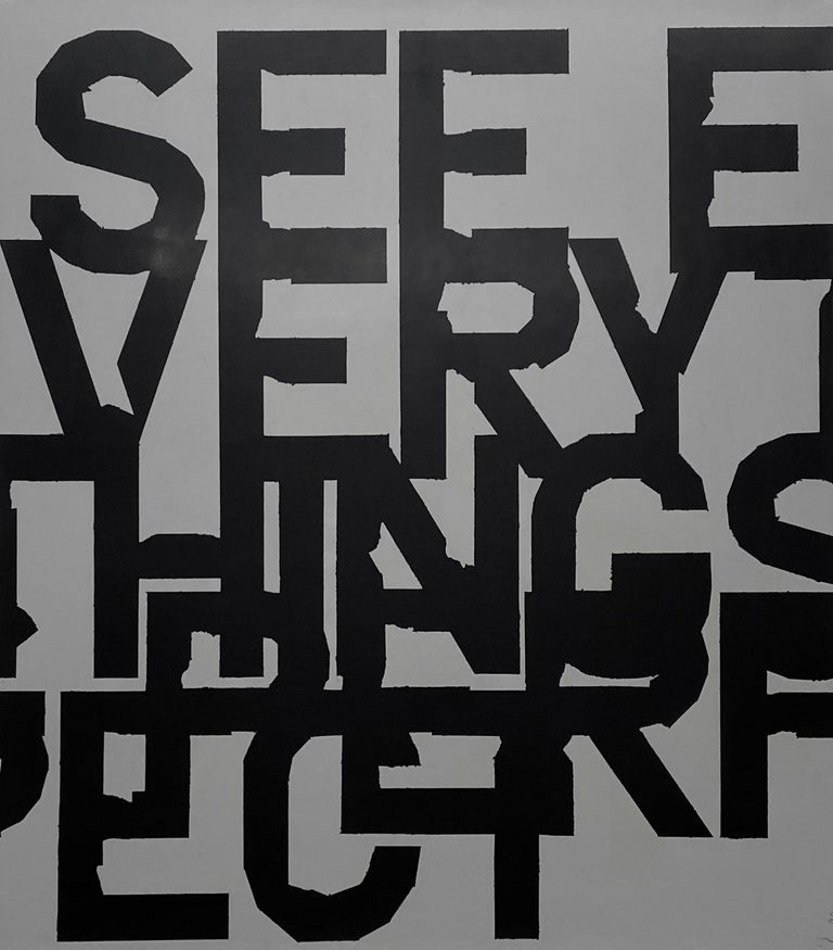 See, everything's perfect.  - Mixed Media Art by Matthew Heller