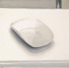 Click (Small Realistic Still Life Painting of a White Computer Mouse)