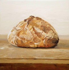 Daily (Modern Still Life Oil Painting of Loaf of Bread)