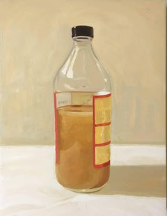 Mother (Small, Realistic Still Life Painting of a Bottle of Apple Cider Vinegar)