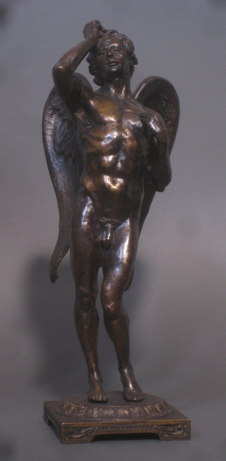 Eros by Matthew James Collins is the Artist Proof of an Edition of Seven.  Artist Statement:  I am very happy to announce that two of my bronze works are now available in a limited edition of 7.  The first one, shown above, is my vision of Eros.  He