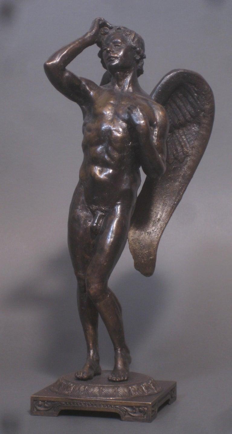 Matthew James Collins Figurative Sculpture - Eros,  Bronze Sculpture, Lost Wax Method , Cesello, Florence, Italy, Antiquity
