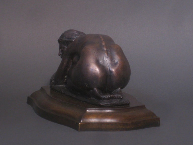 L'Hiver, Winter, Bronze Sculpture, Lost Wax Method , Romantic, Florence, Italy For Sale 1