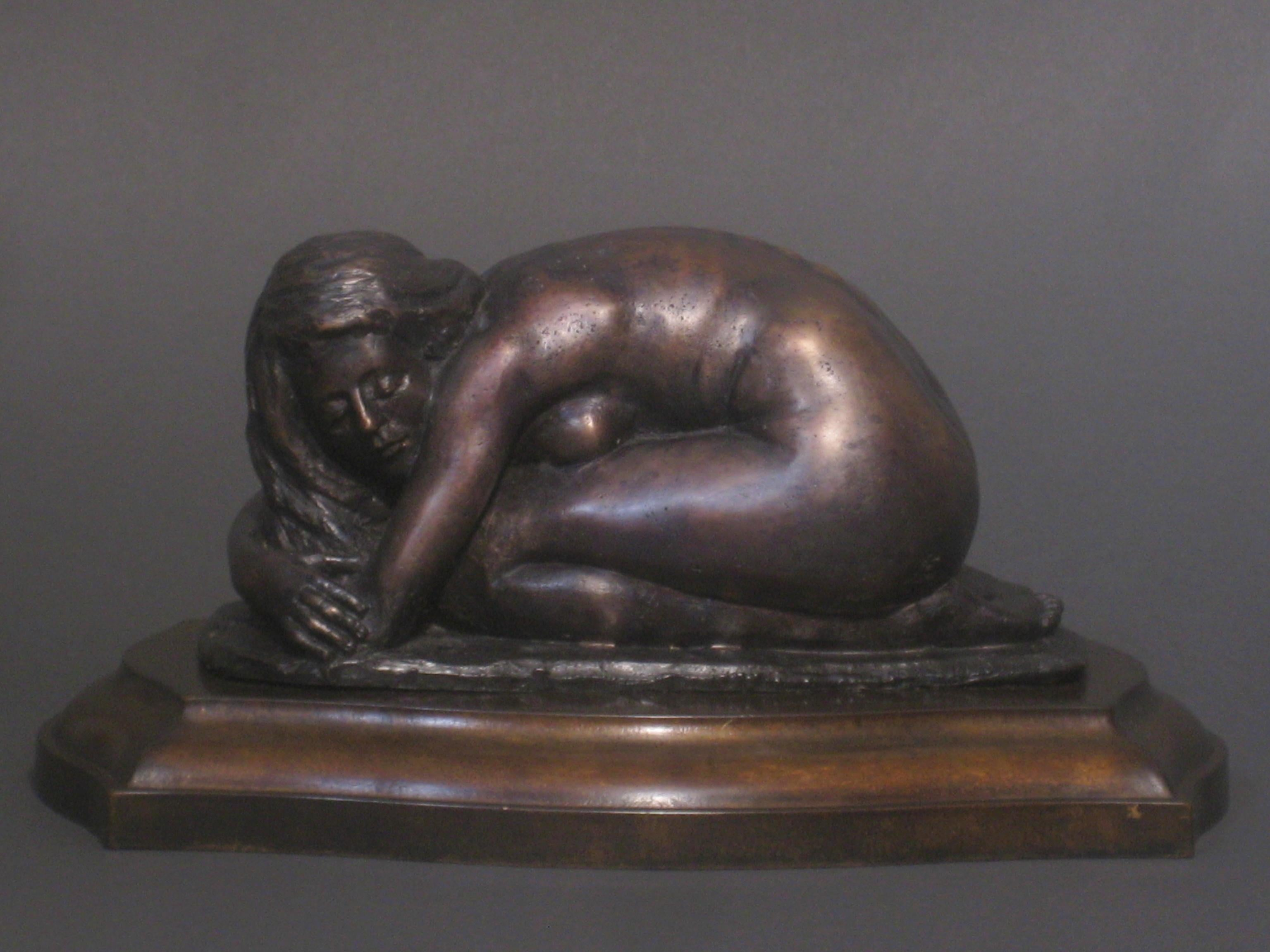 L'Hiver, Winter, Bronze Sculpture, Lost Wax Method , Romantic, Florence, Italy