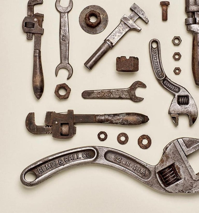 Wrenched - old tool photography - Contemporary Photograph by Matthew McKee