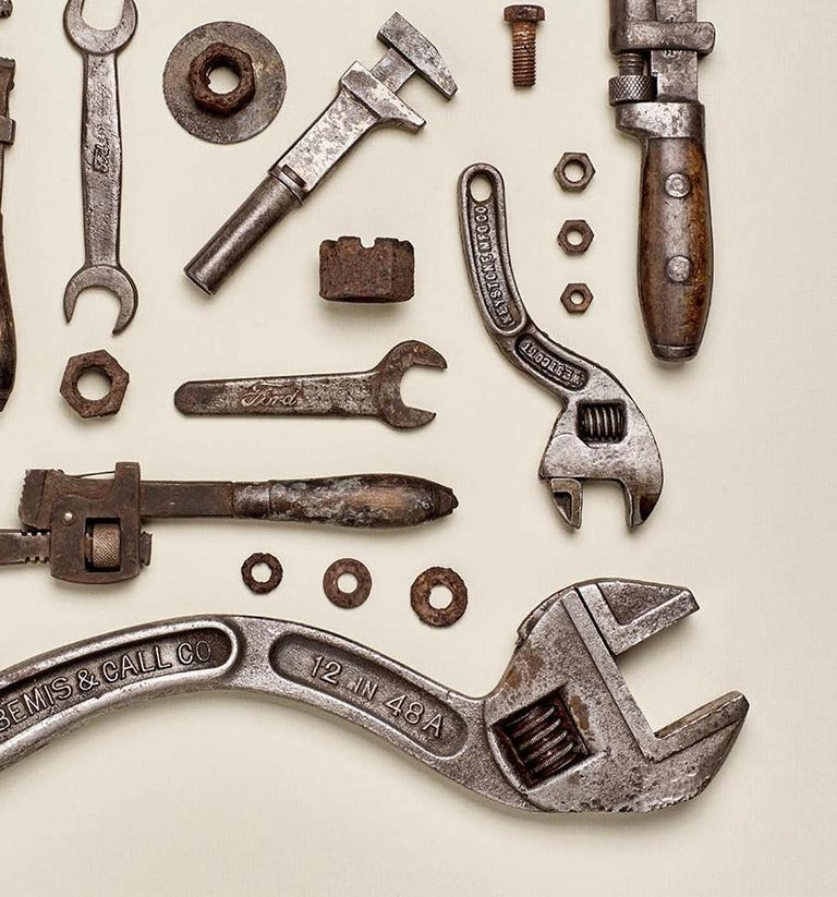 Wrenched - old tool photography - Beige Color Photograph by Matthew McKee