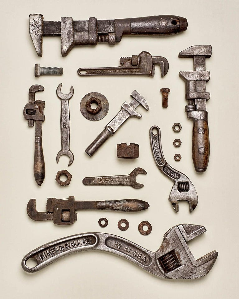 Matthew McKee Color Photograph - Wrenched - old tool photography