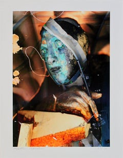 2007 Matthew Monahan 'Untitled (Self Portrait)' Contemporary Multicolor,Orange
