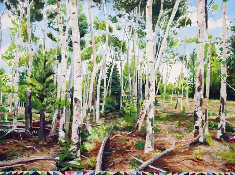 Matthew Mullins Landscape Painting - Northern Forest
