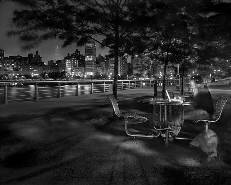 Matthew Pillsbury Black and White Photograph - Leslie & Ella on the Hudson, Wednesday, May 31st, 9:26-9:47 p.m.