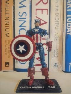 Hope 2 (A New Hope) - Captain America, Marvel Comic Book Hero: Acrylic on Canvas
