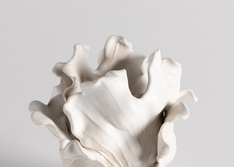 Glazed Matthew Solomon, Tulip Sculpture on a Lucite Base, United States, 2019 For Sale