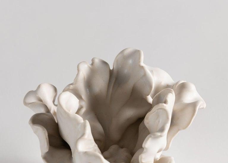 Glazed Matthew Solomon, Tulip Sculpture on a Lucite Base, United States, 2019 For Sale