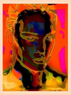 Neon Florissant Figurative Portrait Painting