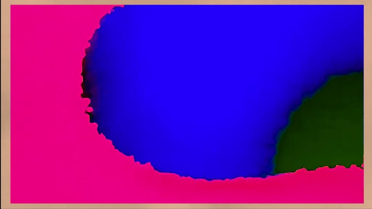 Matthew Tierney Abstract Print - Babylon - Abstract Pink and Blue Pure Pigment Print