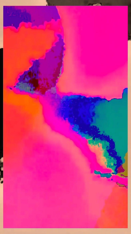 Matthew Tierney Abstract Print - Babylon - Fluorescent Pure Pigment Print