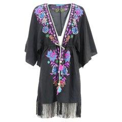 Matthew Williamson Escape Embroidered Silk Robe UK 6