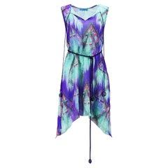Matthew Williamson Escape Printed Silk Mini Dress UK 6