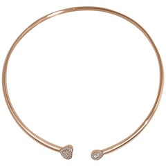 Matthia's & Claire 18 Karat Rose Gold and Diamonds Heart Cuff Necklace