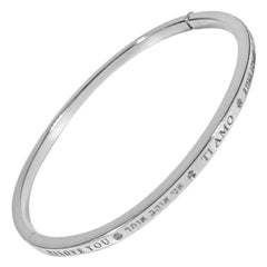 Matthia's & Claire Dream Collection 18K White Gold I Love You Bracelet Bangle