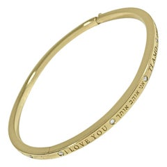 Matthia's & Claire Dream Collection 18K Yellow Gold I Love You Bracelet Bangle