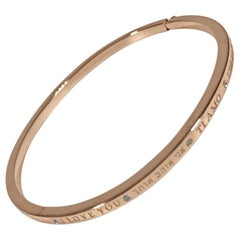 Matthia's & Claire Dream Collection Rose Gold Diamond I Love You Bracelet Bangle