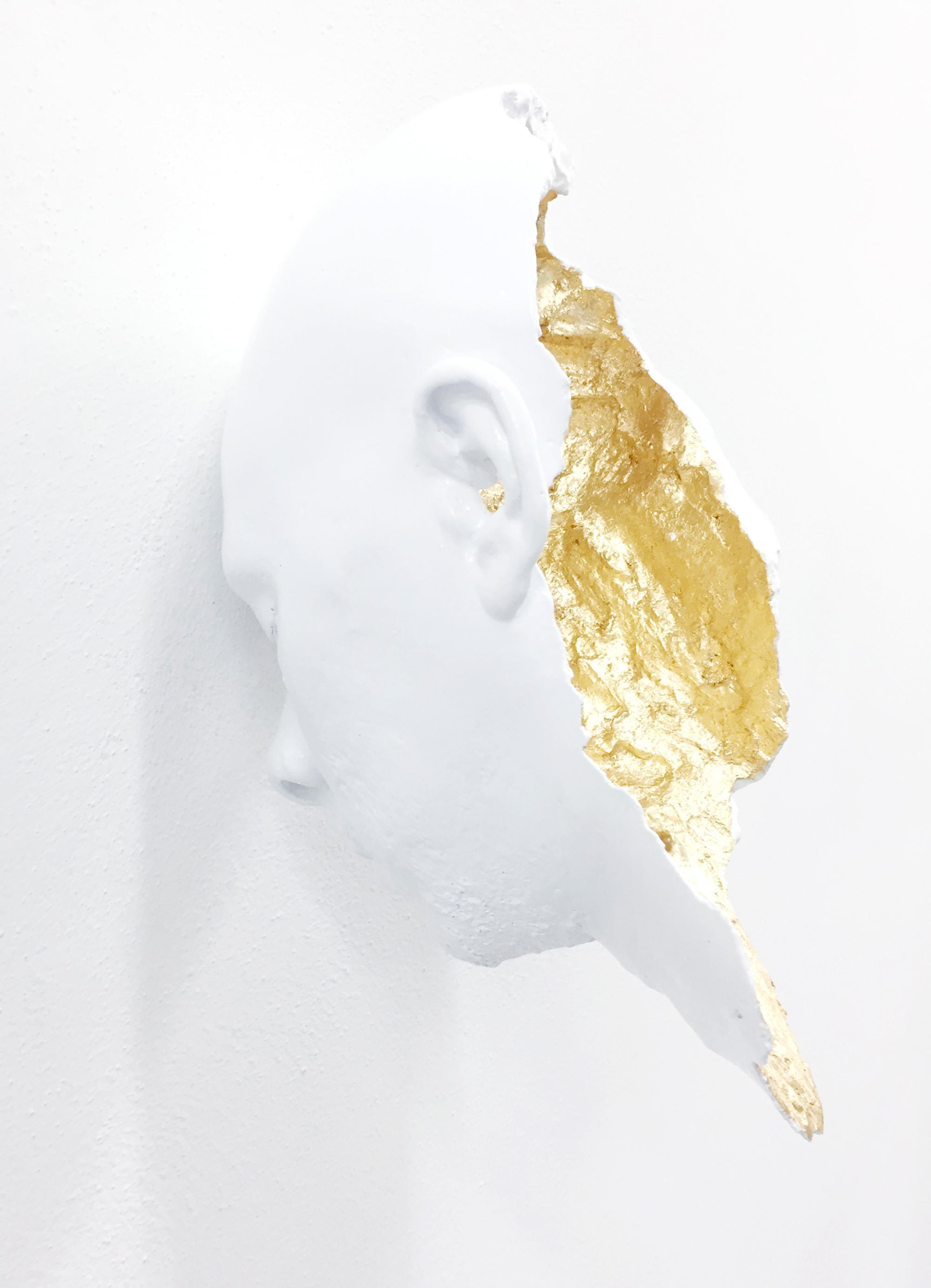 'I'm My Gold' Mixed Media Conceptual Figurative Sculpture