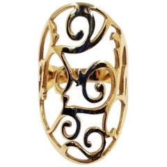 Mattioli 18 Karat Rose Gold Siriana Cutout Ring