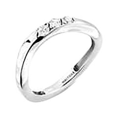 Mattioli Aspis Band Ring in White Gold and White Diamonds