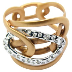 Mattioli Diamonds and White 18 Karat Rose Gold Ring Collection