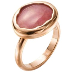 Mattioli Eden Collection 18 Karat Rose Gold Ring and Rhodonite