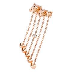 Mattioli Eve_r Mono Earring 18k in Rose Gold & White Diamond 'left'
