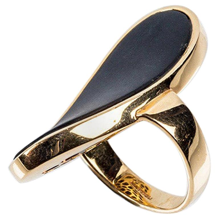 Mattioli Hiroko Collection 18 Karat Gold Ring and Onyx For Sale
