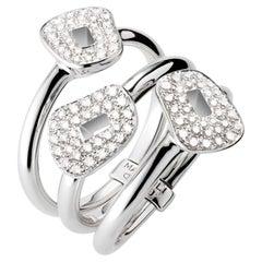 Mattioli Puzzle 18K White Gold with Diamonds Ring