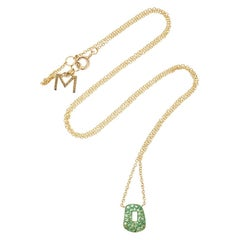 Mattioli Puzzle Collection 18 Karat Gold and Tsavorite Pendant