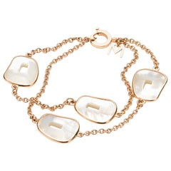 Mattioli Puzzle Collection 18 Karat in Rose Gold and Mother of Pearl Bracelet