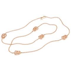 Mattioli Puzzle Collection 18 Karat Rose Gold, Openwork Chanel Necklace