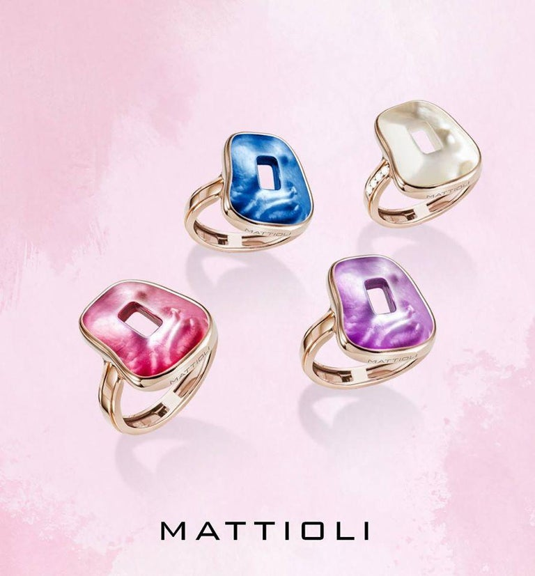 Mattioli Puzzle Collection 18 Karat Rose Gold Ring with Diamonds and 3 Puzzles In New Condition For Sale In Bilbao, ES